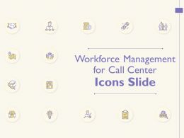 Workforce Management For Call Center Icons Slide Ppt Powerpoint Presentation Inspiration Example