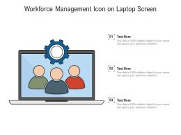 Workforce Management Icon On Laptop Screen