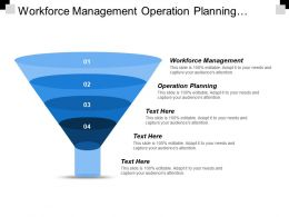 Workforce Management Operation Planning Supply Chain Management Brainstorming Cpb