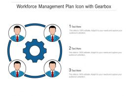 Workforce Management Plan Icon With Gearbox