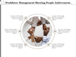Workforce Management Showing People Achievement As Hands Frame