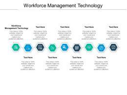 Workforce Management Technology Ppt Powerpoint Presentation Skills Cpb