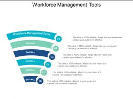 Workforce Management Tools Ppt Powerpoint Presentation Model Shapes Cpb