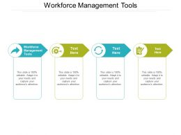 Workforce Management Tools Ppt Powerpoint Presentation Styles Infographics Cpb