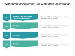 Workforce Management Vs Workforce Optimization Ppt Powerpoint Presentation Visual Aids Example 2015 Cpb