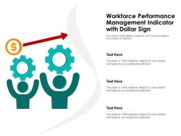 Workforce Performance Management Indicator With Dollar Sign