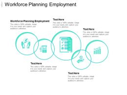 Workforce Planning Employment Ppt Powerpoint Presentation File Inspiration Cpb