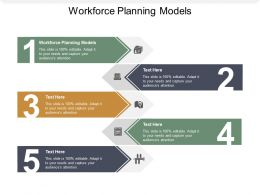Workforce Planning Models Ppt Powerpoint Presentation Icon Show Cpb