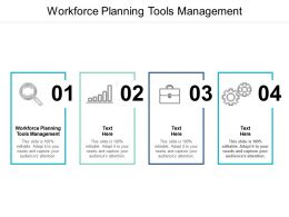 Workforce Planning Tools Management Ppt Powerpoint Presentation Infographic Template Cpb