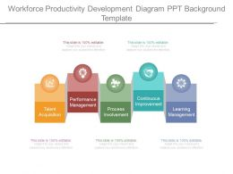 Workforce Productivity Development Diagram Ppt Background Template