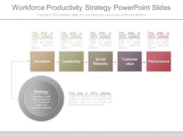 Workforce Productivity Strategy Powerpoint Slides