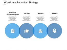 Workforce Retention Strategy Ppt Powerpoint Presentation Inspiration Clipart Images Cpb