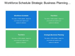 Workforce Schedule Strategic Business Planning Workforce Planning Strategies