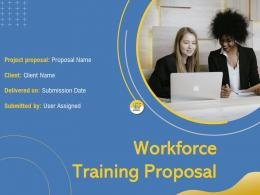 Workforce Training Proposal Powerpoint Presentation Slides