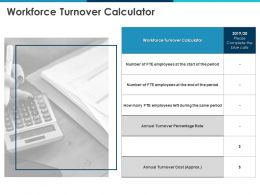 Workforce Turnover Calculator Annual Cost Ppt Powerpoint Presentation Styles Graphics Example