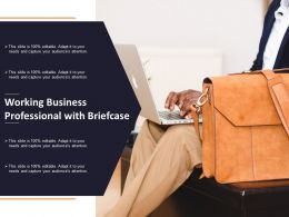 Working Business Professional With Briefcase