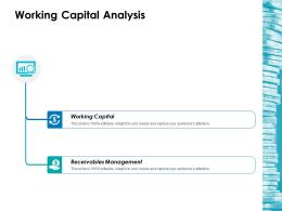 Working Capital Analysis Ppt Layouts Themes