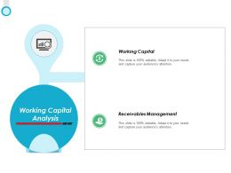 Working Capital Analysis Ppt Powerpoint Presentation Gallery File Formats