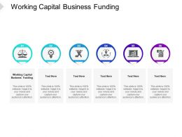 Working Capital Business Funding Ppt Powerpoint Presentation Outline Mockup Cpb