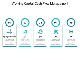Working Capital Cash Flow Management Ppt Powerpoint Presentation Icon Tips Cpb