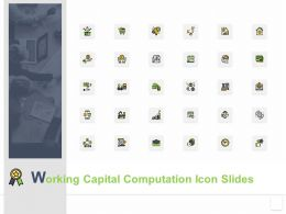 Working Capital Computation Icon Slides Growth K263 Powerpoint Presentation Infographics