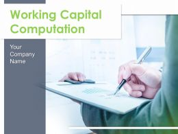 Working Capital Computation Powerpoint Presentation Slides