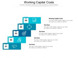 Working Capital Costs Ppt Powerpoint Presentation Professional Maker Cpb