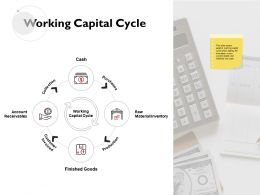 Working Capital Cycle Raw Material Collection Ppt Powerpoint Presentation Gallery Display