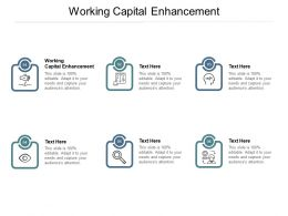 Working Capital Enhancement Ppt Powerpoint Presentation Layouts Master Slide Cpb