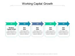 Working Capital Growth Ppt Powerpoint Presentation Examples Cpb