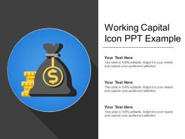 Working Capital Icon Ppt Example