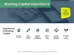 Working Capital Importance Enhance Goodwill Ppt Powerpoint Presentation Icon Deck