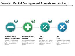 Working Capital Management Analysis Automotive Sales Strategy Corporate Financing Cpb