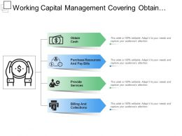 Working Capital Management Covering Obtain Cash And Provide Services