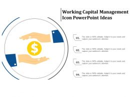 Working Capital Management Icon Powerpoint Ideas