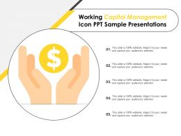 Working Capital Management Icon Ppt Sample Presentations