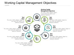 Working Capital Management Objectives Ppt Powerpoint Presentation Slides Cpb