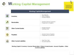 Working Capital Management Other Current Assets Ppt Powerpoint Presentation Ideas Introduction