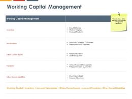 Working Capital Management Payables Ppt Powerpoint Presentation Icon Example File