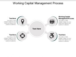 Working Capital Management Process Ppt Powerpoint Presentation Summary Show Cpb