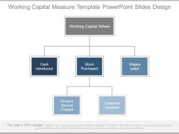 Working Capital Measure Template Powerpoint Slides Design