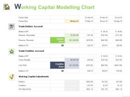 Working Capital Modelling Chart Adjustments Ppt Powerpoint Presentation Gallery Information