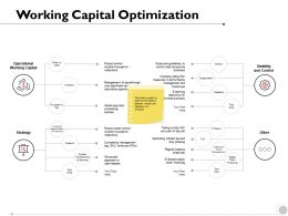 Working Capital Optimization Operational Strategy Ppt Powerpoint Presentation Infographic Image