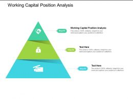 Working Capital Position Analysis Ppt Powerpoint Presentation Model Cpb