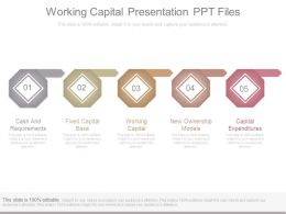 Working Capital Presentation Ppt Files