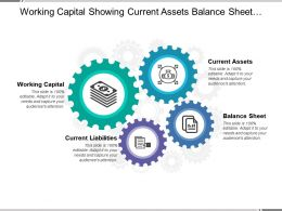 Working Capital Showing Current Assets Balance Sheet And Current Liabilities
