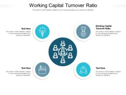 Working Capital Turnover Ratio Ppt Powerpoint Presentation Layouts Summary