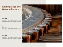 Working Cogs And Gears In Factory