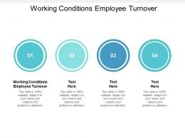 Working Conditions Employee Turnover Ppt Powerpoint Presentation Styles Ideas Cpb