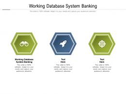 Working Database System Banking Ppt Powerpoint Presentation Professional Mockup Cpb